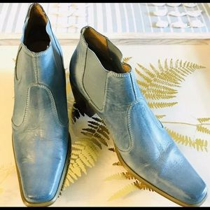 Bass Ankle Boots Leather Sz. (7.5M) Blue